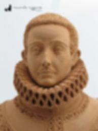 Busto del Manso in terracotta realizzato dal Maestro Riccardo Ruggiano