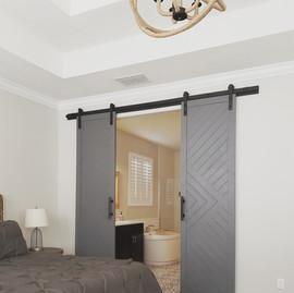 geometric barn doors