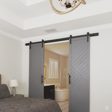 geometric barn doors