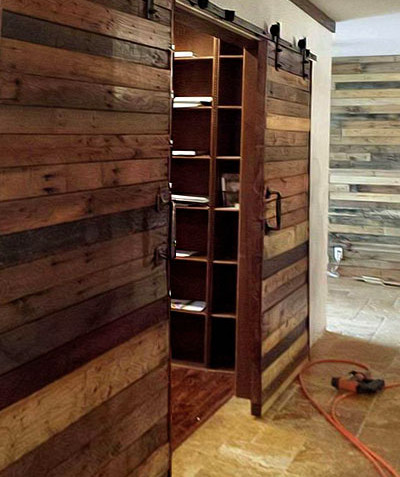 rustic wood barn doors
