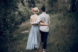 Abrazo de pareja
