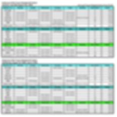 Team Master Schedule & Tuition 2020-2021