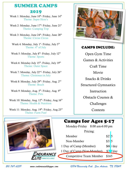 Summer Camp Flyer 2019