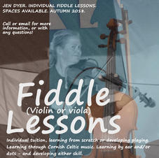 Fiddle/Viola lessons in Cornish tunes available!