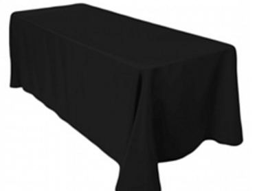 Rectangle Table Cloth(s) [Black]