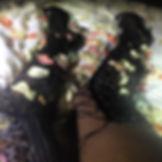 Thigh High Boots, Rose Petals