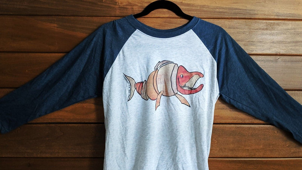 Happy Salmon Baseball T