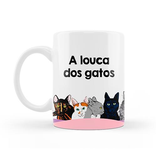 Caneca A Louca dos Gatos