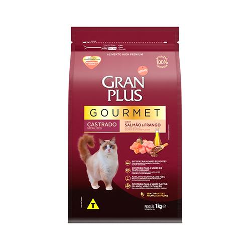 Ração Gourmet Gato Castrado Salmão & Frango