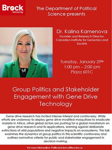 Kalina Kamenova, gene drive