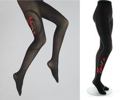 Collants Danseuse rouge/noir fond noir