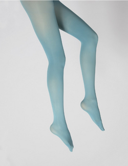 collants unis couleur Aqua