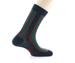 chaussettes fantaisie à rayures vertic