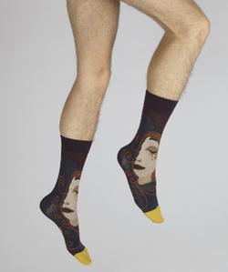 chaussettes visage d'une femme