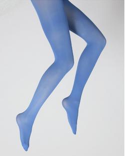 Collants unis couleur Bleu Royal