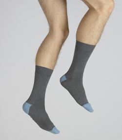 chaussettes Alain Colas gris et bleu