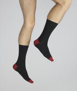chaussette Napoleon noir et rouge