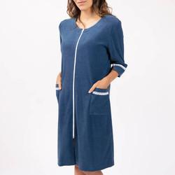 Robe de chambre canat bleu