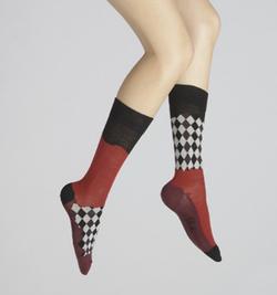 chaussettes damiers asymétriques