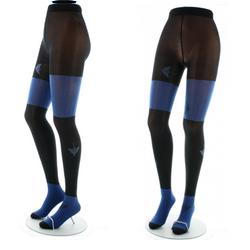 Collants Oies Sauvages bleu fond noir