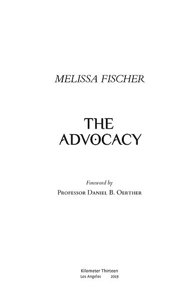 The Advocacy - Chapter One