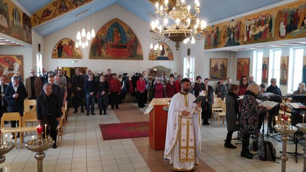 Liturgia Oulun katedraalissa, helmikuu 2019