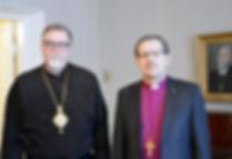Metropoliitta Elia ja piispa Jukka Keski