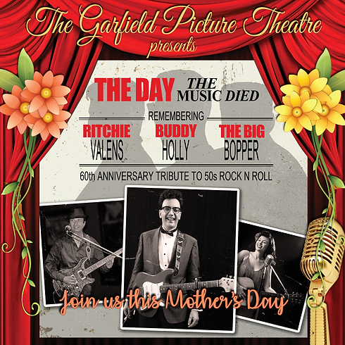 THE DAY THE MUSIC DIED ANNIVERSARY – Sunday 12th May