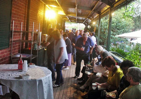 Hang out on the verandah during an interval