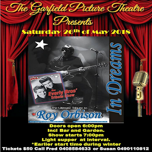 ROY ORBINSON / EVERLY BROTHERS.    Supper and Show $50
