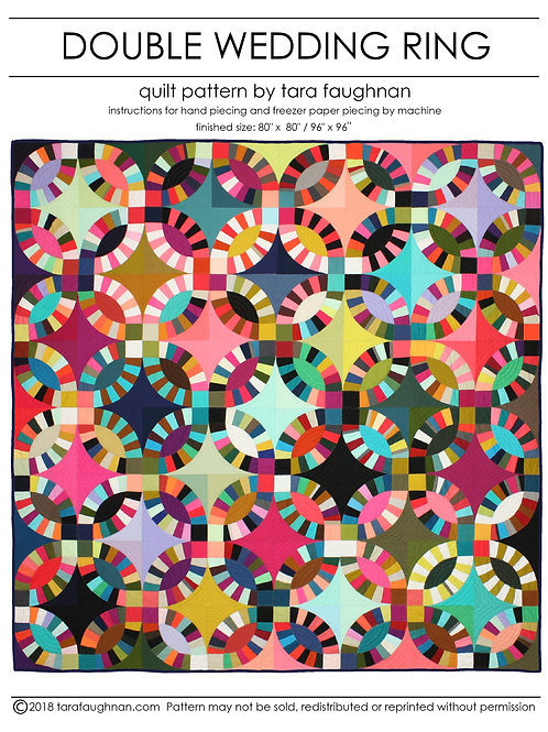 Double Wedding Ring Quilt- PDF pattern