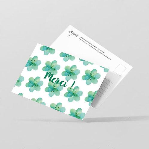"Carte postale ""Merci"""