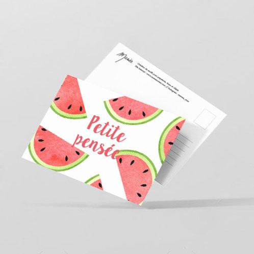 """Carte postale """"petite pensée"""""""
