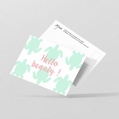 """Carte postale """"hello beauty"""""""