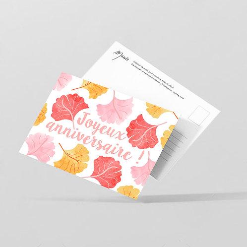 """Carte postale """"Joyeux anniversaire"""""""