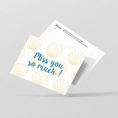 "Carte postale ""miss you"""