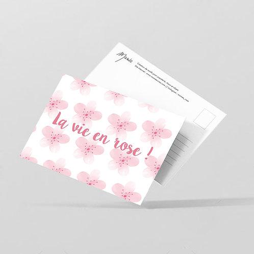 "Carte postale ""La vie en rose"""