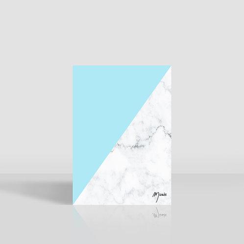 carnet marbre bleu clair