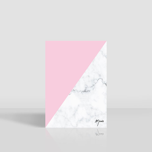 carnet marbre rose clair