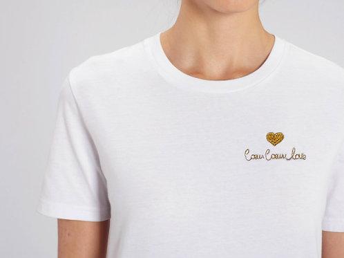 T-shirt brodé Coeur Coeur Love