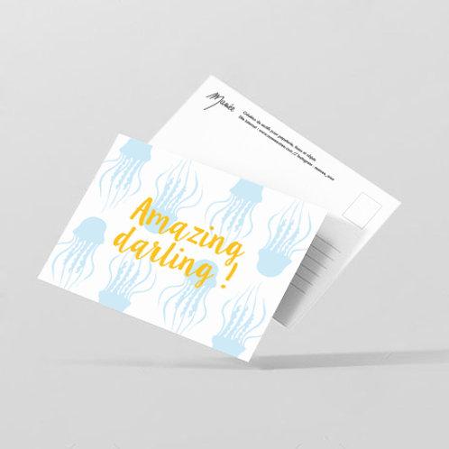 "Carte postale ""amazing darling"""