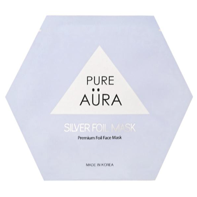 Pure Aura Silver Metallic Sheet Mask
