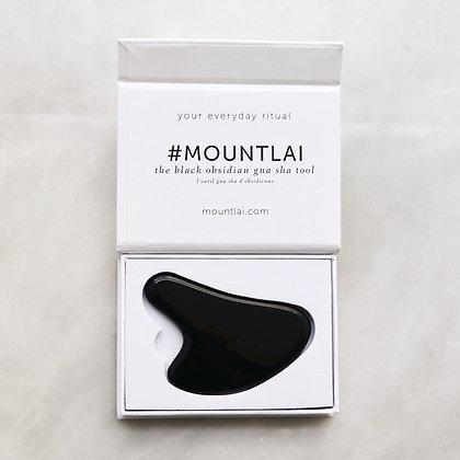 Mount Lai Obsidian Gua Sha Tool