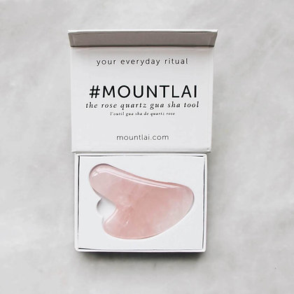 Mount Lai Rose Quartz Gua Sha Tool