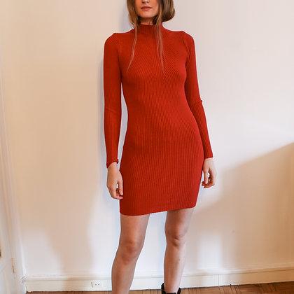 robe maille rouge [U]