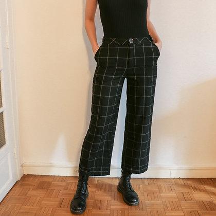 pantalon large carreaux [36]