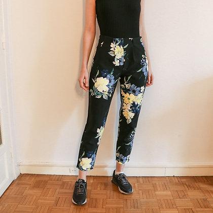 pantalon carotte floral [36]