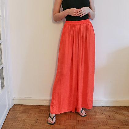pantalon fluide élastique orange [L]