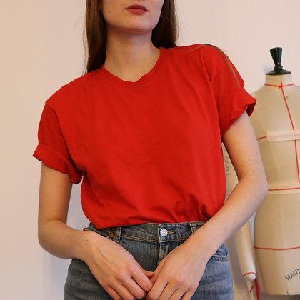 t-shirt long rouge [XL]