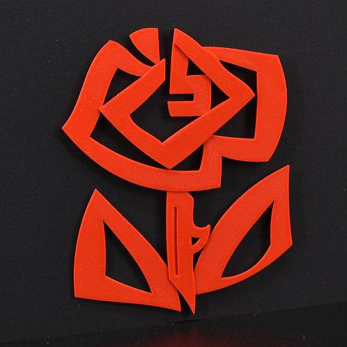 "3dprint decoratie ""ROOS"" (10cmx12cm) Magnetisch. (incl. BTW)"